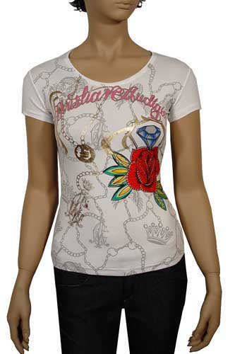 Womens Designer Clothes | CHRISTIAN AUDIGIER Multi Print Lady's Top #75