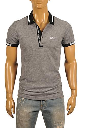 Mens Designer Clothes | HUGO BOSS Mens Navy Blue Polo Shirt #62