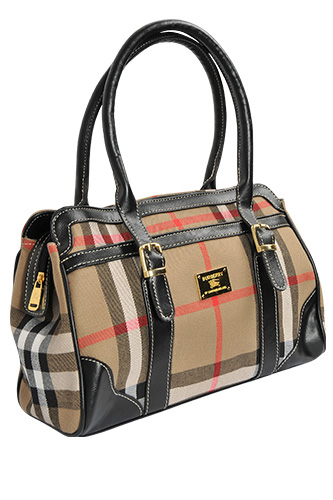 Womens Designer Clothes | BURBERRY Medium Leather and Nylon Bowling Bag #8