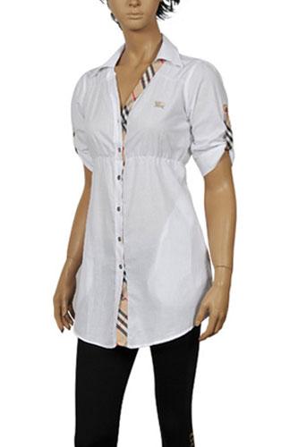 Womens Designer Clothes | BURBERRY Ladies Button Up Shirt #104
