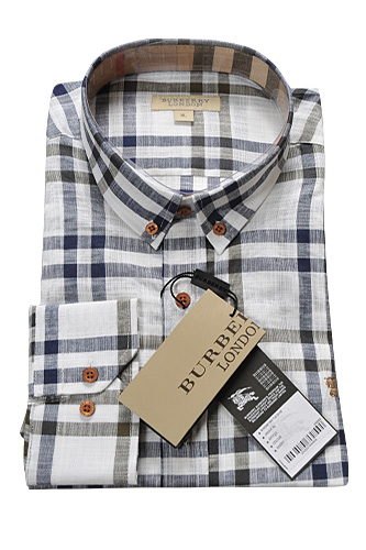 Mens Designer Clothes | BURBERRY Men's Button Up Shirt #129