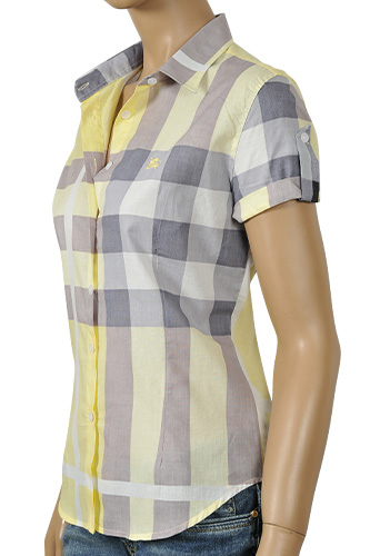 Womens Designer Clothes | BURBERRY Ladies Short Sleeve Shirt #42