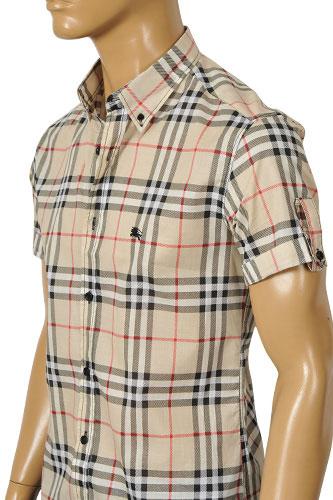 Mens designer clothes burberry men 39 s short sleeve shirt 71 for Burberry shirt size chart