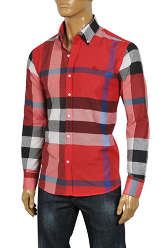 Mens Designer Clothes | BURBERRY Men's Dress Shirt #110