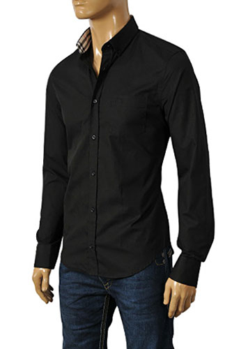 Mens Designer Clothes | BURBERRY Men's Dress Shirt #121