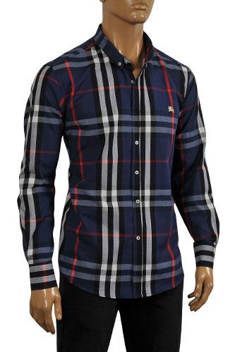 Mens designer clothes burberry men 39 s button up dress for Where are burberry shirts made