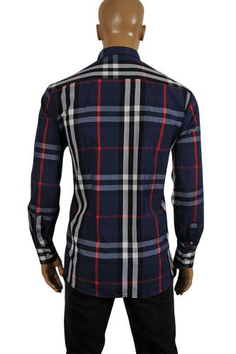 Mens designer clothes burberry men 39 s button up dress for Burberry shirt size chart