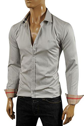 Mens Designer Clothes | BURBERRY Men's Dress Shirt #168