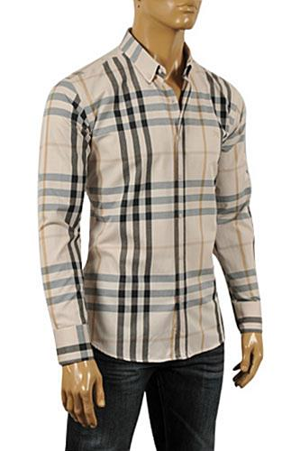 Mens Designer Clothes | BURBERRY Men's Dress Shirt #181