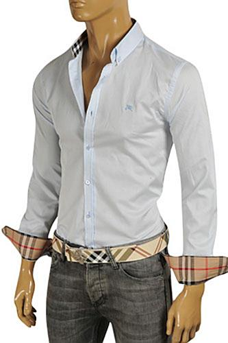 Mens Designer Clothes | BURBERRY Men's Dress Shirt #217