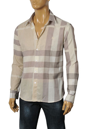 Mens Designer Clothes | BURBERRY Men's Dress Shirt #2