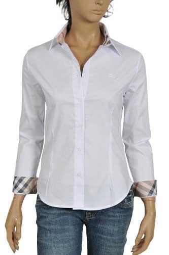 ladies burberry shirt