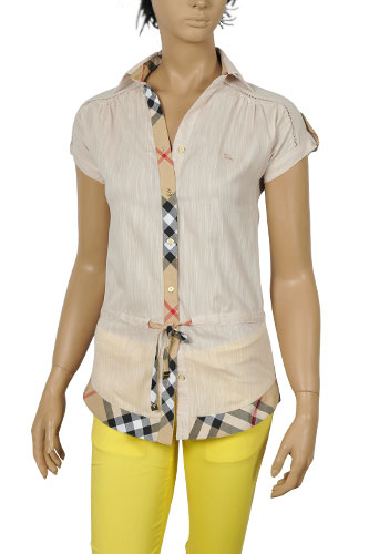 Mens Designer Clothes | BURBERRY Ladies Short Sleeve Shirt #58