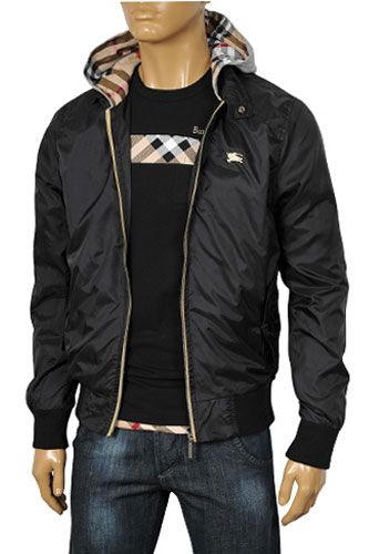 Mens Designer Clothes | BURBERRY Men's Zip Up Hooded Jacket #15