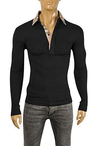 Mens designer clothes burberry men 39 s long sleeve shirt 204 for Burberry shirt size chart