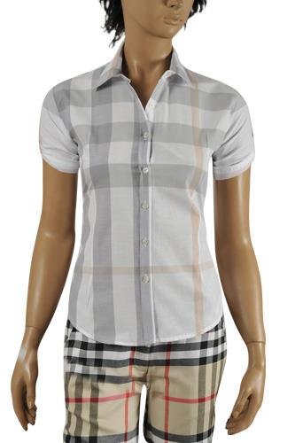 Womens Designer Clothes | BURBERRY Ladies Short Sleeve Shirt #155