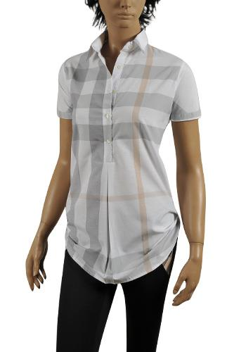 Womens Designer Clothes | BURBERRY Ladies Short Sleeve Shirt #156
