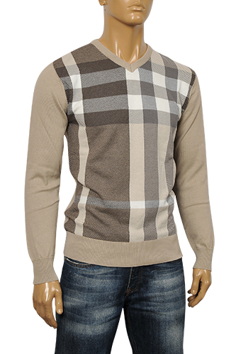 Mens Designer Clothes | BURBERRY Men's V-Neck Sweater #113