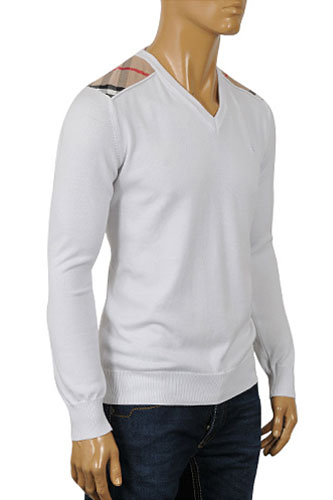 Mens Designer Clothes | BURBERRY Men's V-Neck Sweater #120