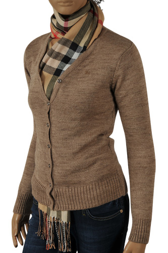 Womens Designer Clothes | BURBERRY Ladies' Button Front Cardigan/Sweater #135