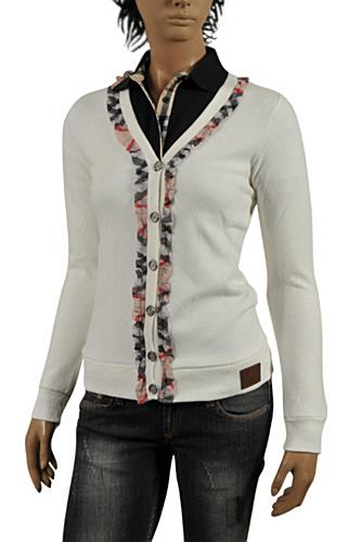 Womens Designer Clothes | BURBERRY Ladies' Button Up Cardigan/Sweater #176