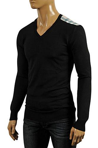 Mens Designer Clothes | BURBERRY Men's V-Neck Sweater #178