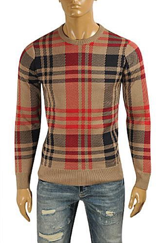 Mens Designer Clothes | BURBERRY Men's Round Neck Knitted Sweater #220