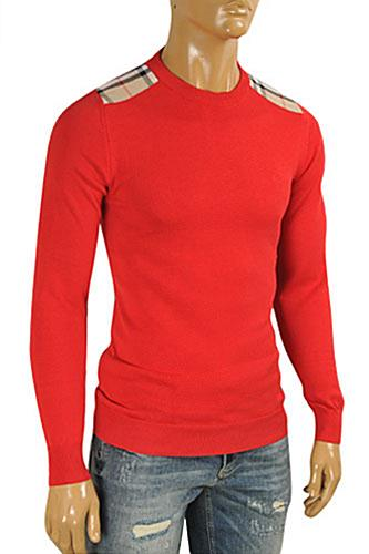 Mens Designer Clothes | BURBERRY Men's Round Neck Knitted Sweater #222