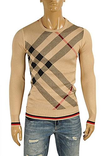 Mens Designer Clothes | BURBERRY Men's Round Neck Knitted Sweater #223