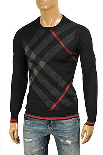 Mens Designer Clothes | BURBERRY Men's Round Neck Knitted Sweater #224