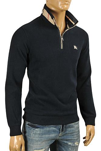 Mens Designer Clothes | BURBERRY Men's Zip Knitted Sweater #44
