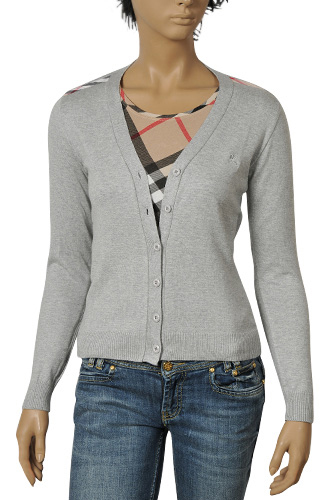 Womens Designer Clothes | BURBERRY Ladies' Button Up Sweater #73