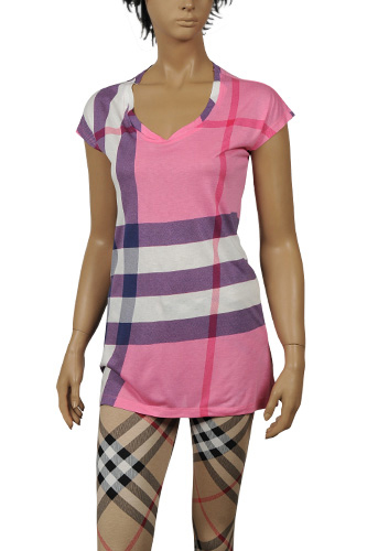 Womens Designer Clothes | BURBERRY Ladies Short Sleeve Top #100