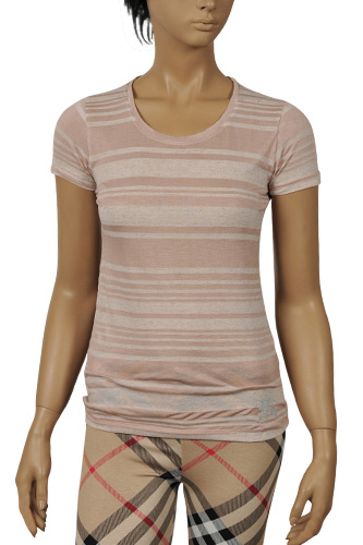 Womens Designer Clothes | BURBERRY Ladies Short Sleeve Top #101