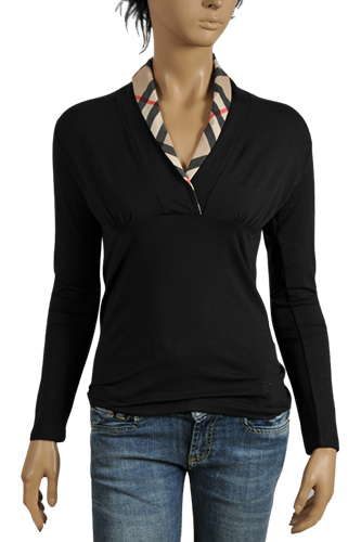 Womens Designer Clothes | BURBERRY Ladies Long Sleeve Top #117
