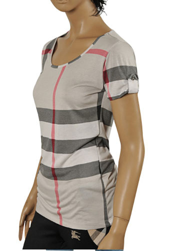 Womens Designer Clothes | BURBERRY Ladies' Short Sleeve Top/Tunic #146