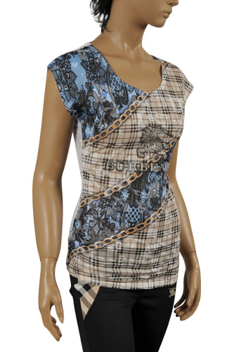 Mens Designer Clothes | BURBERRY Ladies' Short Sleeve Top/Tunic #147