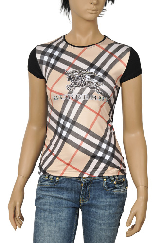 Womens Designer Clothes | BURBERRY Ladies Short Sleeve Top #64