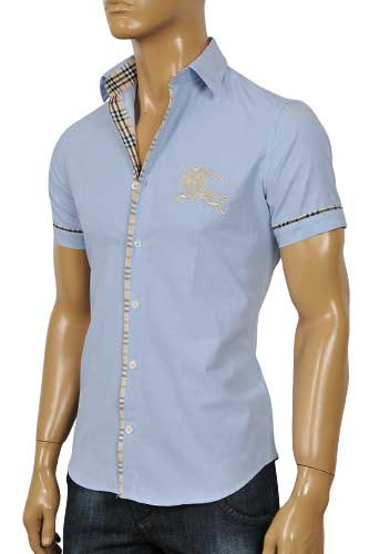 Mens Designer Clothes | BURBERRY Men's Short Sleeve Shirt #29