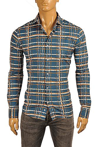 Mens Designer Clothes | ROBERTO CAVALLI Slim Fit Men's Dress Shirt #363