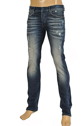 Mens Designer Clothes | Roberto Cavalli Men's Fitted Jeans #110