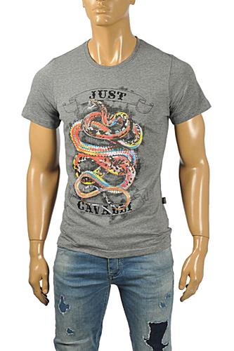 Mens Designer Clothes | JUST CAVALLI Men's Short Sleeve Tee #171