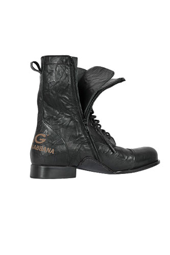 Designer Clothes Shoes | DOLCE & GABBANA High Leather Boots For Men #218