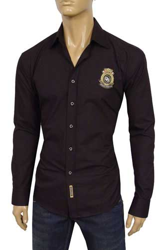 Mens Designer Clothes | DOLCE & GABBANA Mens Fitted Dress Shirt #304