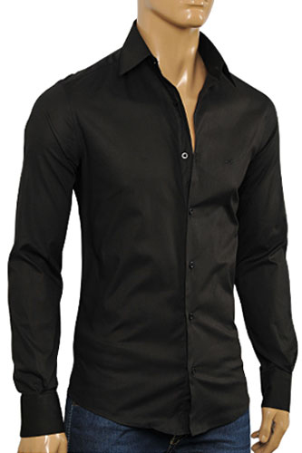 Mens Designer Clothes | DOLCE & GABBANA Men's Button Down Dress Shirt #438