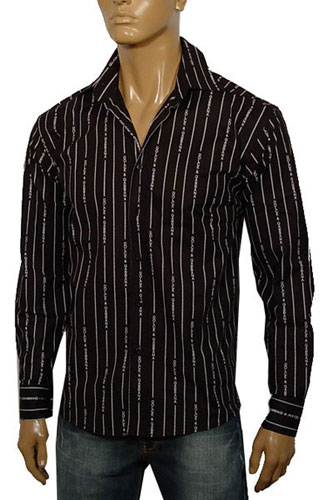Mens Designer Clothes | DOLCE & GABBANA Dress Shirt With Buttons #217