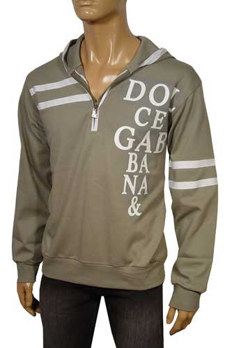 Mens Designer Clothes | DOLCE & GABBANA Men's Hooded Sweatshirt #260