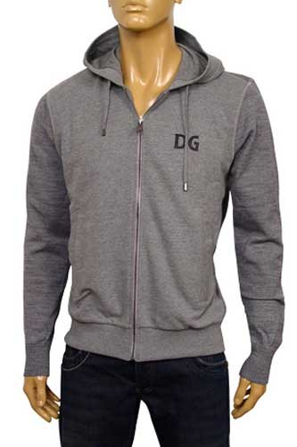 Mens Designer Clothes | DOLCE & GABBANA Cotton Hoodie With Zipper #282