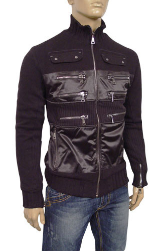 Mens Designer Clothes | DOLCE & GABBANA Mens Zip Jacket with Fur Inside #303
