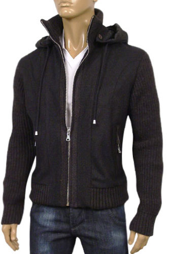 Mens Designer Clothes | DOLCE & GABBANA Mens Warm Jacket with Hoodie #316